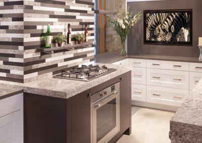 Photo of custom quartz countertops